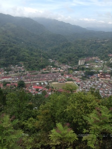 view of the town of sawahlunto from the vacation home