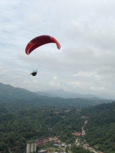 paragliding, a popular sport activity in Sawahlunto